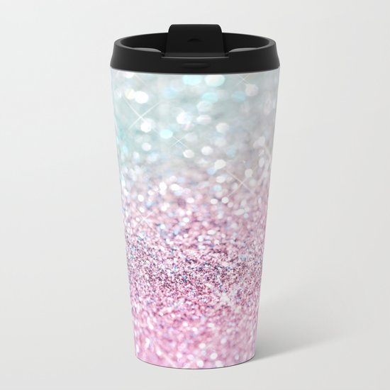 Pastel Winter Metal Travel Mug