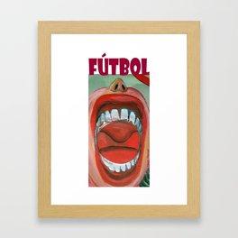 Grito de gol por Diego Manuel Framed Art Print