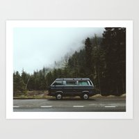 van Art Prints featuring Northwest Van by Kevin Russ