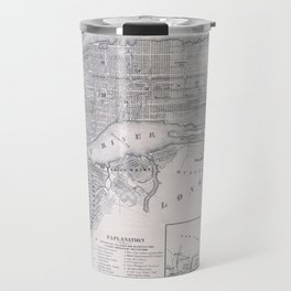 Vintage Map of New York City (1855) Travel Mug