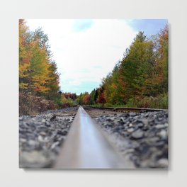 Canada Photography - Picture From The Train Track Metal Print