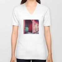 door V-neck T-shirts featuring Door by wendygray