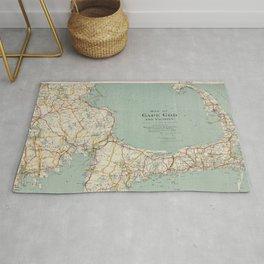 Vintage Map of Cape Cod (1917) Rug