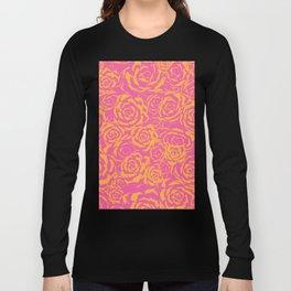 Succulent Stamp - Pink & Orange #315 Long Sleeve T-shirt