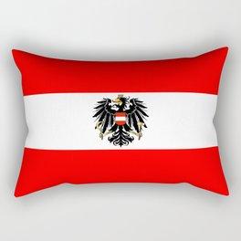 Austrian Flag and Coat of Arms Rectangular Pillow