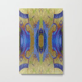 Gold Leaf Layers Abstract III Metal Print