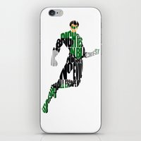 green lantern iPhone & iPod Skins featuring Green Lantern by Ayse Deniz