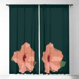 Flower minimal - scandinavian Blackout Curtain