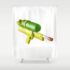 Water Gun Shower Curtain