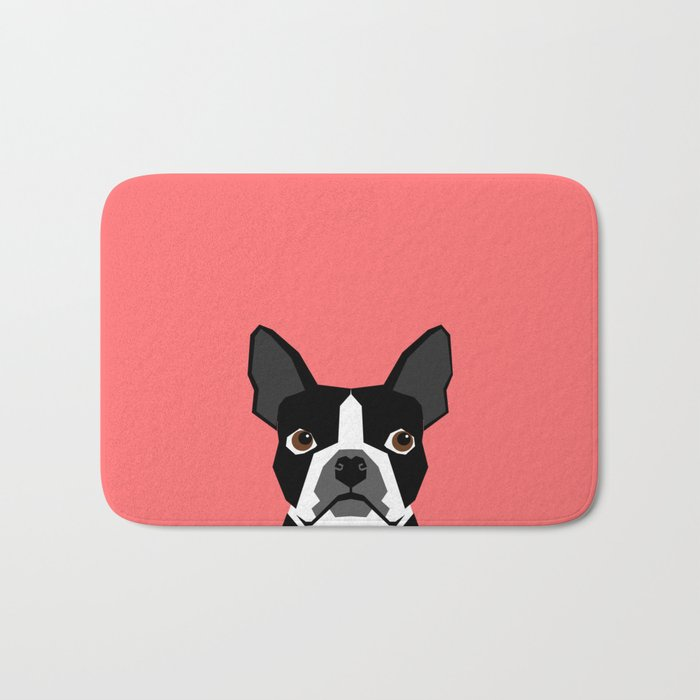 Kennedy - Boston Terrier cute dog themed gifts for small dog owners and Boston Terrier gifts  Bath Mat