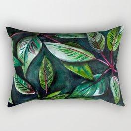 Aquarell Leafs Rectangular Pillow