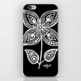 White Flowers 110 iPhone Skin
