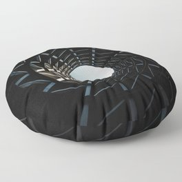 LOW ANGLE PHOTOGRAPHY OF MISSILE SILO HOLE Floor Pillow