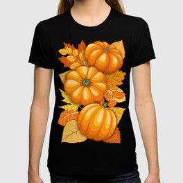 Pumpkins and Autumn Leaves Party T-shirt