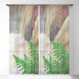 Ferrous thermal water Sheer Curtain