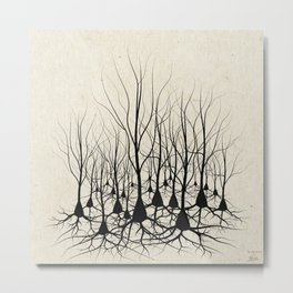 Pyramidal Neuron Forest Metal Print