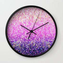 Glitter Graphic Background G104 Wall Clock