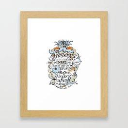 Yes, I'm a Feminist! by Fanitsa Petrou Framed Art Print
