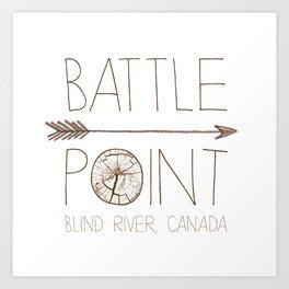 Battle Point Art Print
