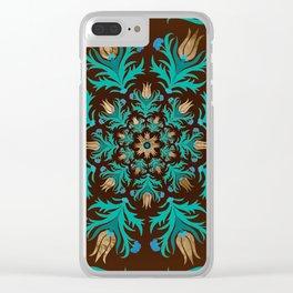 Turkish tulip - Ottoman tile 17 Clear iPhone Case