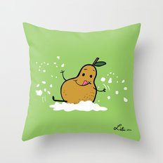 Goat Cheese & Pears Throw Pillow