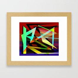 Rectilinear Design 3 Framed Art Print