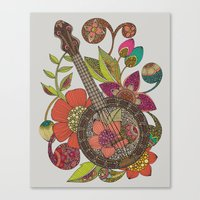 banjo Canvas Prints featuring Ever Banjo by Valentina Harper