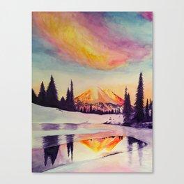 Winter Wonderland in Mount Rainer Canvas Print