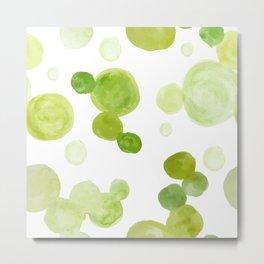 Abstract Green Watrcolor Circes Metal Print