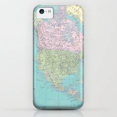 Vintage North America Map iPhone 5c Slim Case