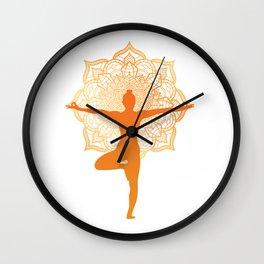 meditation for people who like meditation and yoga  Wall Clock