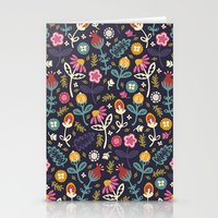 flowers Stationery Cards featuring Ditsy Flowers by Poppy & Red