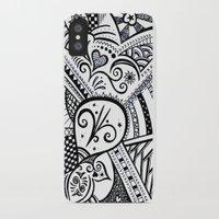 zentangle iPhone & iPod Cases featuring Zentangle by Wealie