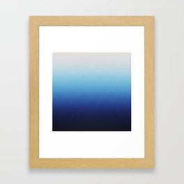 Ombre Blue Framed Art Print
