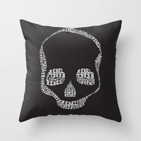 rebel Throw Pillows featuring Rebel by Estaschia Cossadianos