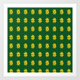 Coreopsis Pattern Art Print