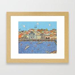 Istanbul marché aux épices Framed Art Print