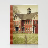 american beauty Stationery Cards featuring Americana by Farmhouse Chic