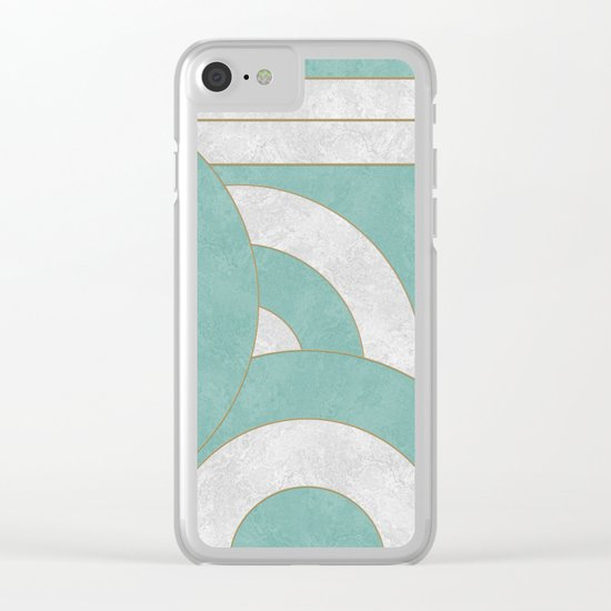 Geometric Marble 04 Clear iPhone Case