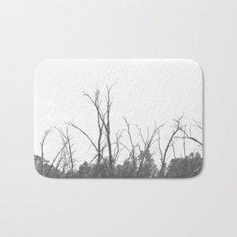 Dark Atmospheric forest Bath Mat