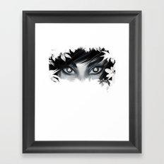 Triforce Stare Framed Art Print