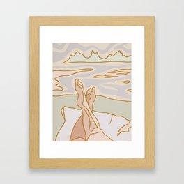 Laid Back Framed Art Print