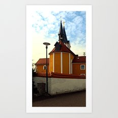 The village church of Herzogsdorf II | architectural photography Art Print