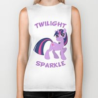 mlp Biker Tanks featuring MLP FiM: Twilight Sparkle by Yiji
