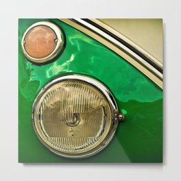 Vintage 21-window classic in green wall art - photograph Metal Print