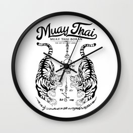 Muay Thai Tattoo Wall Clock