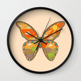 Butterfly Day Wall Clock