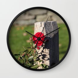The lonesome rose Wall Clock