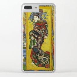 Van Gogh - Courtesan (after Eisen) Clear iPhone Case