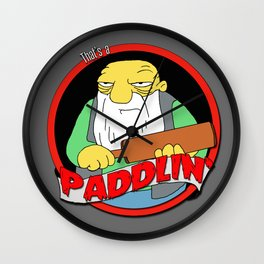 That's a paddlin' Wall Clock